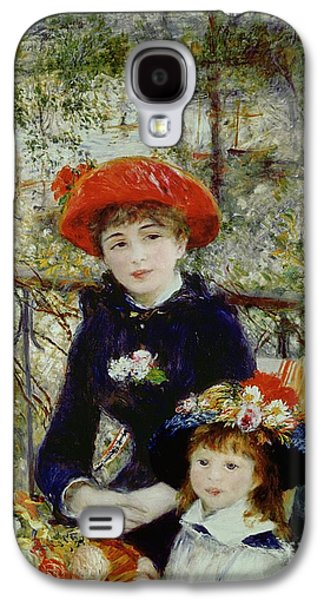 Sisters Galaxy S4 Cases - Two Sisters Galaxy S4 Case by Pierre Auguste Renoir