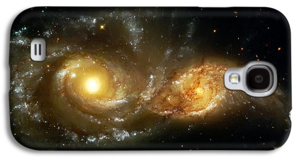 Colorful Abstract Galaxy S4 Cases - Two Spiral Galaxies Galaxy S4 Case by The  Vault - Jennifer Rondinelli Reilly