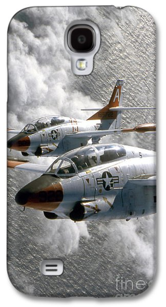 Vertical Flight Galaxy S4 Cases - Two U.s. Navy T-2c Buckeye Aircraft Galaxy S4 Case by Stocktrek Images