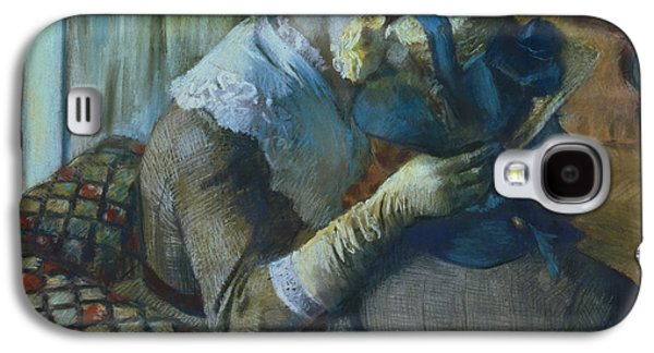 Lesbian Paintings Galaxy S4 Cases - Two Women Galaxy S4 Case by Edgar Degas