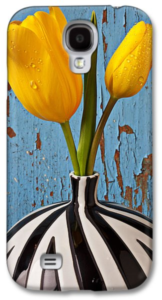 Graphic Photographs Galaxy S4 Cases - Two Yellow Tulips Galaxy S4 Case by Garry Gay