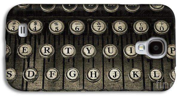 Typewriter Keys Photographs Galaxy S4 Cases - Typewriter Keys 2 Galaxy S4 Case by Cindi Ressler