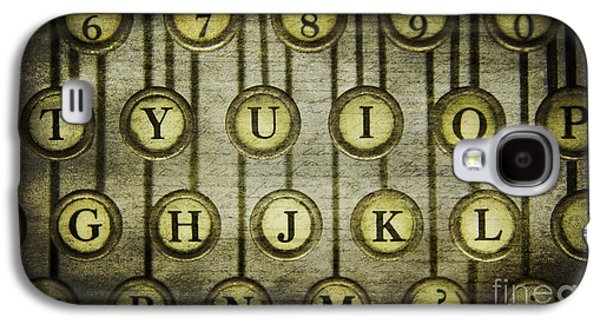 Typewriter Keys Photographs Galaxy S4 Cases - Typewriter Keys Galaxy S4 Case by Cindi Ressler