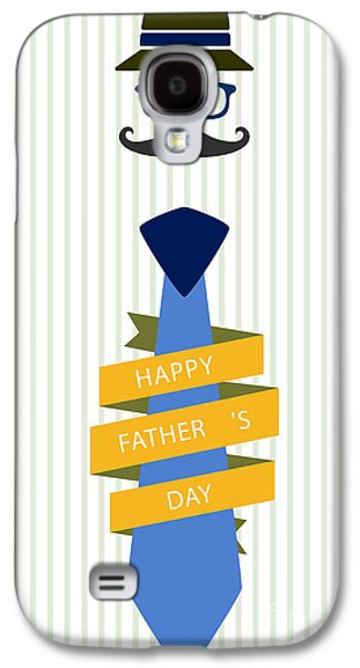 Typography Poster - Happy Father's Day Galaxy S4 Case by Celestial Images