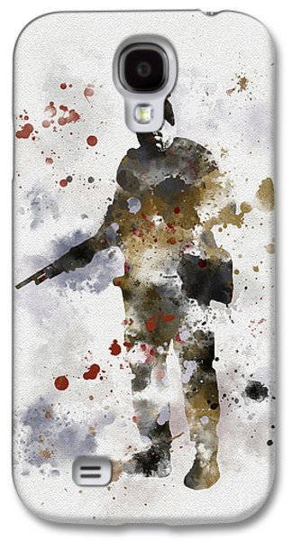 Walking Mixed Media Galaxy S4 Cases - Tyreese Galaxy S4 Case by Rebecca Jenkins