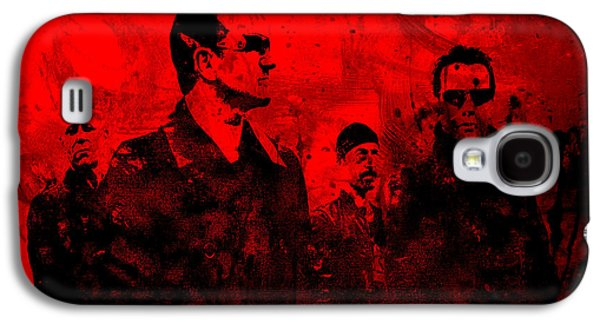 U2 Paintings Galaxy S4 Cases - U2 Rock On Galaxy S4 Case by Brian Reaves