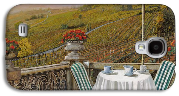 Chair Galaxy S4 Cases - Un Caffe Galaxy S4 Case by Guido Borelli