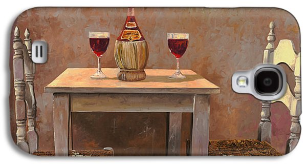 Chair Galaxy S4 Cases - un fiasco di Chianti Galaxy S4 Case by Guido Borelli