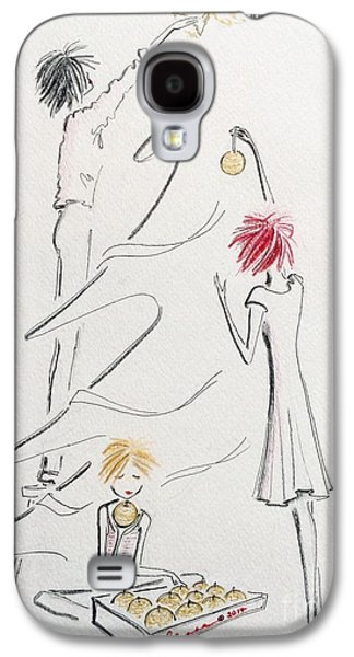 Joyful Drawings Galaxy S4 Cases - Un Peu De Noel Galaxy S4 Case by Barbara Chase