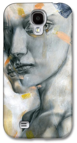 Face Mixed Media Galaxy S4 Cases - Unbearable Lightness Galaxy S4 Case by Patricia Ariel