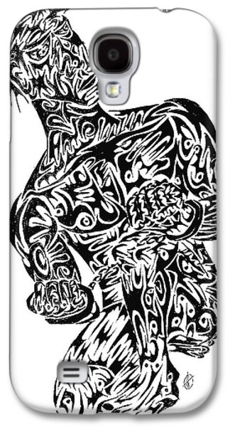 Abstract Digital Drawings Galaxy S4 Cases - Unchained Galaxy S4 Case by AR Teeter