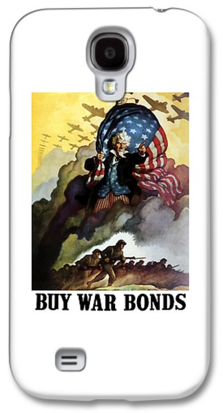 American Galaxy S4 Cases - Uncle Sam Buy War Bonds Galaxy S4 Case by War Is Hell Store