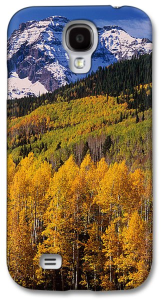 Snow Capped Galaxy S4 Cases - Uncompahgre National Forest Co Usa Galaxy S4 Case by Panoramic Images