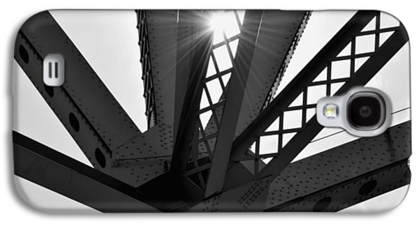 Abstract Forms Galaxy S4 Cases - Under the Bridge B n W Galaxy S4 Case by Richard Andrews
