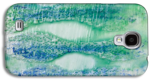 Blue Abstracts Galaxy S4 Cases - Under The Sea Galaxy S4 Case by Edward Fielding