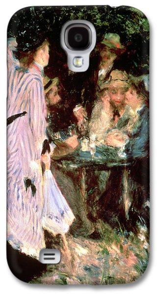 Under The Trees Of The Moulin De La Galette Galaxy S4 Case by Pierre Auguste Renoir