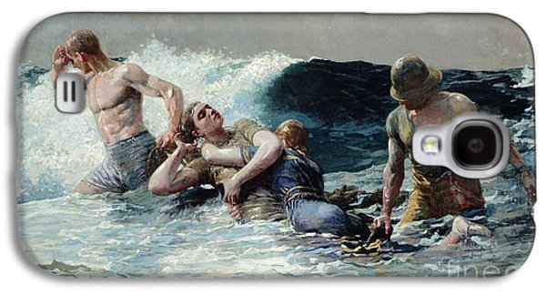 Strength Galaxy S4 Cases - Undertow Galaxy S4 Case by Winslow Homer