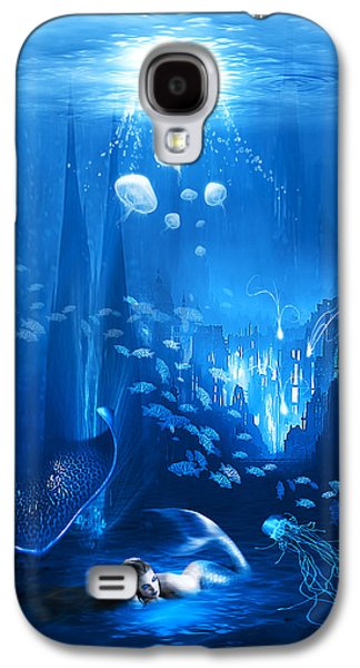 Abstract Digital Mixed Media Galaxy S4 Cases - Underwater World Galaxy S4 Case by Svetlana Sewell