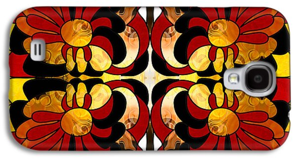 Earth Tones Drawings Galaxy S4 Cases - Unfolding Fantasies of Abstract Bliss By Omashte Galaxy S4 Case by Omaste Witkowski