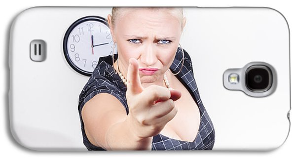 Unhappy Manger Pointing Finger Of Blame At Worker Galaxy S4 Case by Jorgo Photography - Wall Art Gallery