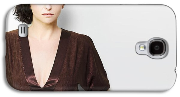 Dismay Galaxy S4 Cases - Unhappy woman concept Galaxy S4 Case by Ryan Jorgensen