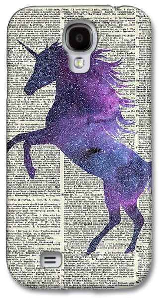 Unicorn In Space Galaxy S4 Case by Jacob Kuch