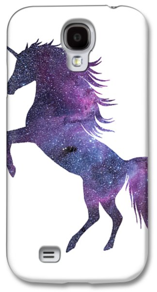 Unicorn In Space-transparent Background Galaxy S4 Case by Jacob Kuch