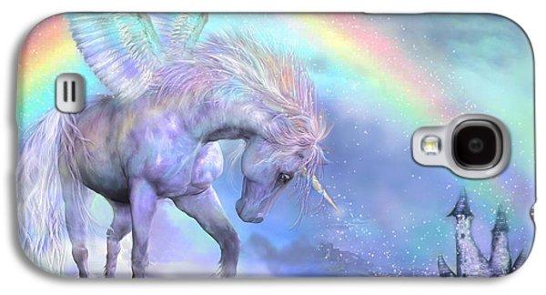 Unicorn Of The Rainbow Galaxy S4 Case by Carol Cavalaris