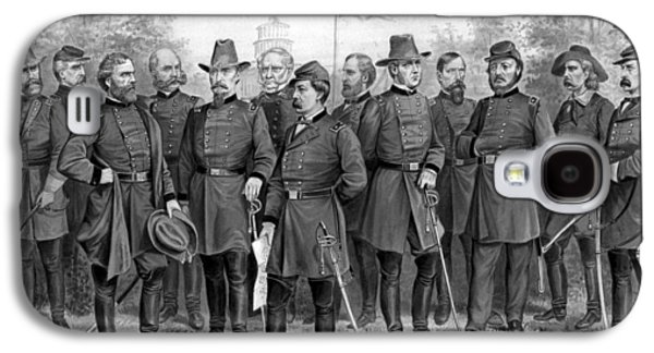 North Drawings Galaxy S4 Cases - Union Generals of The Civil War  Galaxy S4 Case by War Is Hell Store