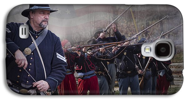 Historical Re-enactments Galaxy S4 Cases - Union Soldier Reenactors Galaxy S4 Case by Randall Nyhof