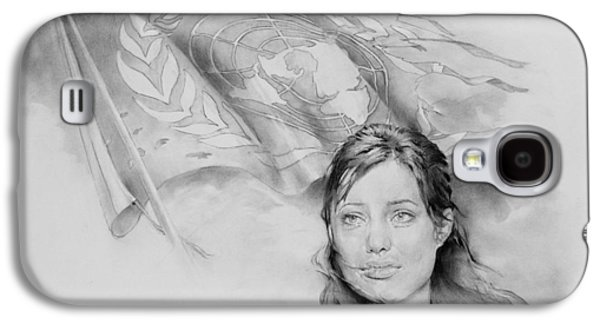 United Nation Un Unhcr Victory Nike Angelina Jolie  Galaxy S4 Case by Michael Klimusha