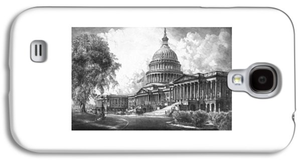 Us Capital Mixed Media Galaxy S4 Cases - United States Capitol Building Galaxy S4 Case by War Is Hell Store