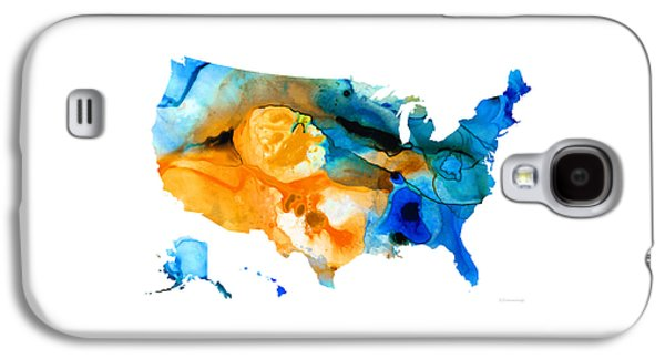 Eye-catching Galaxy S4 Cases - United States Map - America Map 9 - By Sharon Cummings Galaxy S4 Case by Sharon Cummings