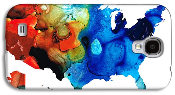 United States Of America Map 4 - Colorful Usa Galaxy S4 Case by Sharon Cummings