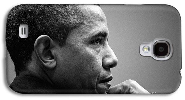 United States President Barack Obama Bw Galaxy S4 Case by Celestial Images