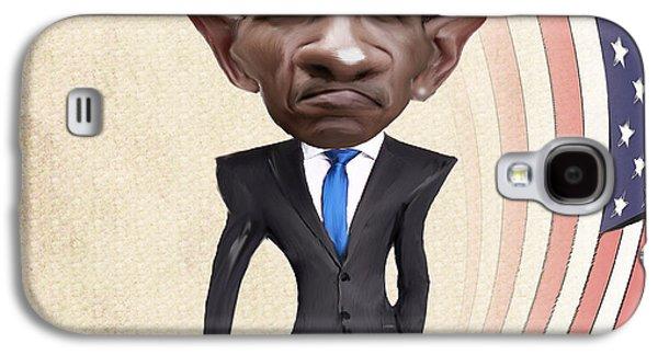 Barack Obama Galaxy S4 Cases - United States President Barack Obama Galaxy S4 Case by Lee went