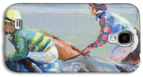 Horse Racing Galaxy S4 Cases - Untitled Saratoga Galaxy S4 Case by Kimberly Santini