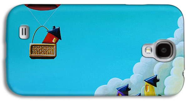 Humor Galaxy S4 Cases - Up Up and Away Galaxy S4 Case by Cindy Thornton