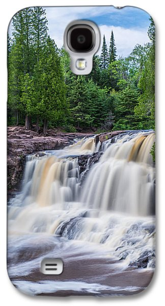 Landscape Acrylic Prints Galaxy S4 Cases - Upper Falls at Gooseberry Falls State Park Galaxy S4 Case by Bill Bucu