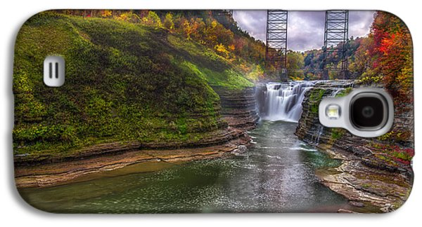 Beauty Mark Photographs Galaxy S4 Cases - Upper Falls in Fall Galaxy S4 Case by Mark Papke