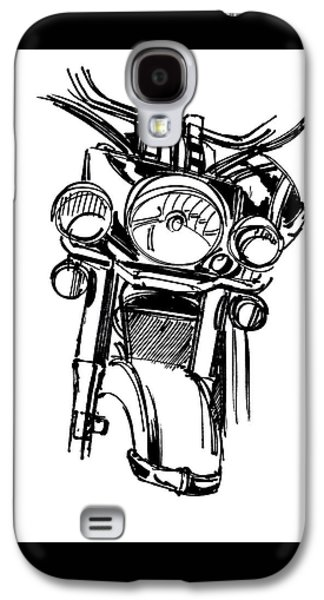 Urban Drawing Motorcycle Galaxy S4 Case by Chad Glass
