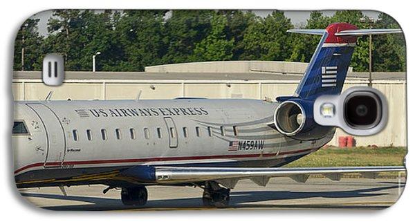 Us Airways Express Jet Plane Galaxy S4 Case by David Oppenheimer