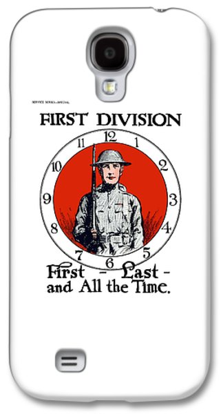 First Galaxy S4 Cases - US Army First Division - WW1 Galaxy S4 Case by War Is Hell Store