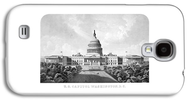 Us Capital Mixed Media Galaxy S4 Cases - US Capitol Building - Washington DC Galaxy S4 Case by War Is Hell Store