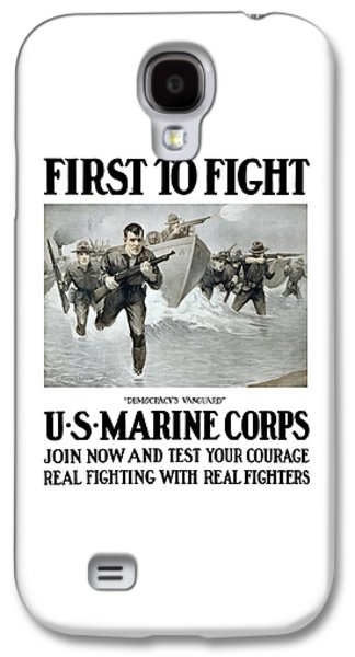 Us Marine Corps - First To Fight  Galaxy S4 Case by War Is Hell Store