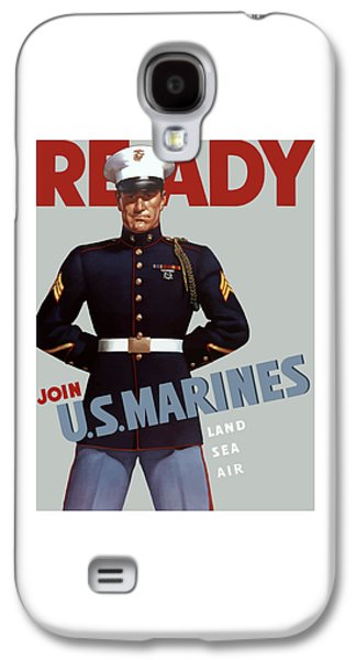 Vet Galaxy S4 Cases - US Marines Ready Galaxy S4 Case by War Is Hell Store
