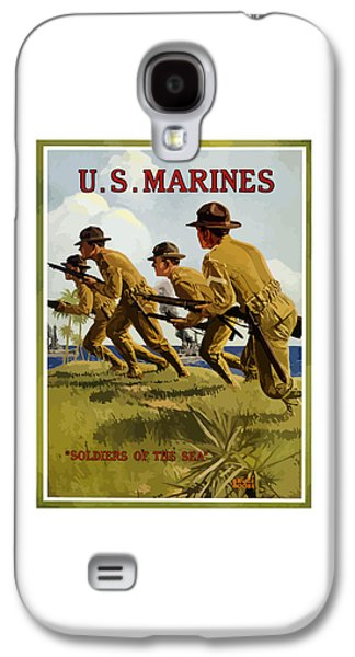 Vet Galaxy S4 Cases - US Marines - Soldiers Of The Sea Galaxy S4 Case by War Is Hell Store