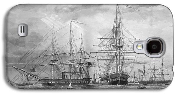 U.s. Naval Fleet During The Civil War Galaxy S4 Case by War Is Hell Store