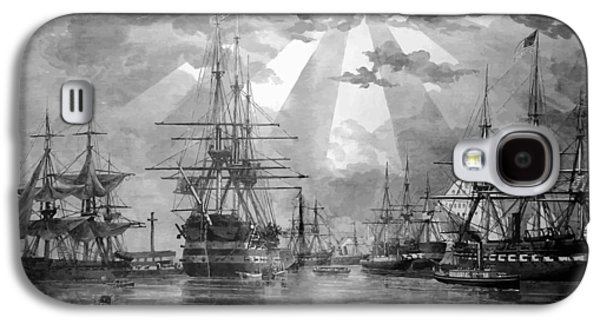 U.s. Naval Ships At The Brooklyn Navy Yard Galaxy S4 Case by War Is Hell Store