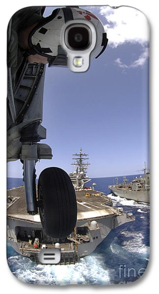 Reagan Galaxy S4 Cases - U.s. Navy Petty Officer Leans Galaxy S4 Case by Stocktrek Images